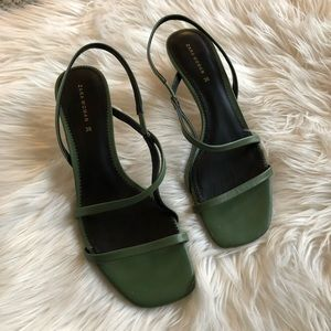 Zara Slingback Barely There Strappy Sandals 38 7.5